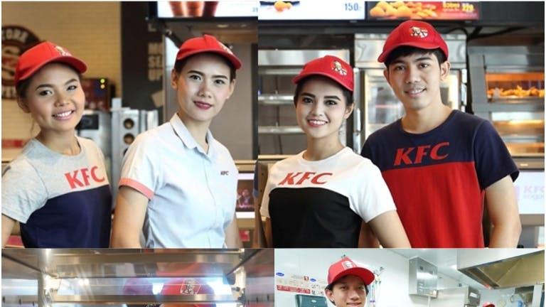 พนักงานKFC สาขาเอกมัย